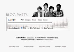 Bloc Party Startpage by AwesomeStart