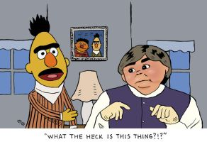 Bert and...uh... Ernie? by rocketdave