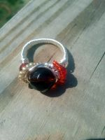Amber love Ring II by WyckedDreamsDesigns