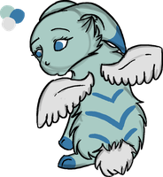 Bunny with wings Draw to Adopt! On hold! by b24beanz