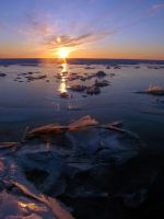 Winter sunset 3 by LucieG-Stock