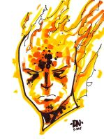 Human Torch Marker Sketch by FrankRapoza