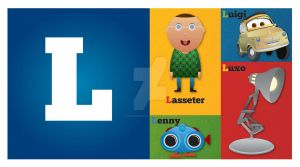 Pixar Alphabet - L by WillZMarler
