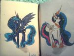 Luna and Celestia by TheRedPenPone