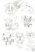 My OCs and 2fandoms by Kittychan2005