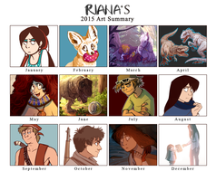 2015 Summary of Art by ArtByRiana