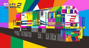 Train Loccomotive WPAP Style by indrorobo