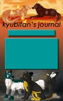 Journal Skin Commish for kyubifan by TheWritingDragon