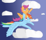 Scootaloo and Rainbow Dash [Speed paint] by PonyHearted