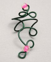 Green and Pink Ear Cuff by lavadragon
