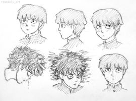 Mob Sketches by RavenDANIELS