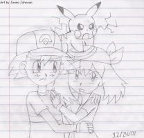 Ash being protective of May by Agufanatic98