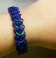 Water Elf Chain Maille Bracelet by FeMailleTurtle