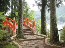 2012 - by the Hakone Shrine Japan by Jayolin