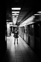 les ombres du metro NB by leingad