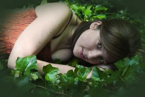 Snuggled in the ivy by BikeBoyPunk