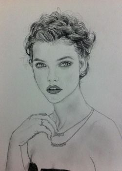 Barbara Palvin by BesosDraws