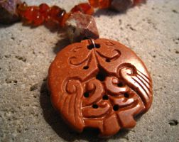 Red Stone Necklace FOR SALE by ThreeRingCinema
