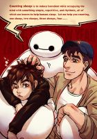 2015 Big Hero 6 new year post card by arashicat
