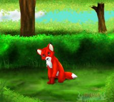 Fox in the forest by cutetoboewolf