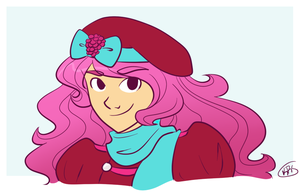 raspberry beret by kennasaur