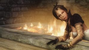 Skyrim: Elina - Golden Fire by haunted-passion