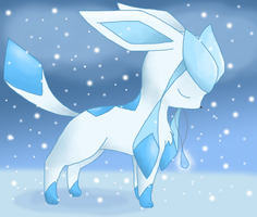 Glaceon with a Mystic Water by Bluekiss131