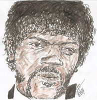 Samuel L. Jackson Jules Winnfield pulp fiction by SBdrawings