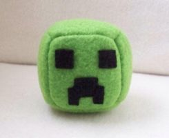 Minecraft Creeper Cube Plushie by Cube-lees