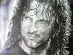 'Aragorn' (Lord Of The Rings) - 2014 - (Drawing) by Stevegillettart