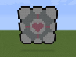 Minecraft - Companion Cube by Exel-Erin