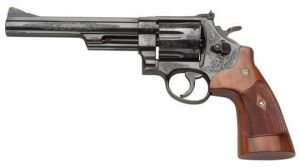 Smith and Wesson 29, Engraved by depthofdarkness