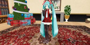 Packaged Chrsitmas Miku DOWNLOAD by MMD-MCL