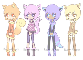 Kemonomimi adopt set (Closed) by Rusty-Adopts