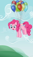 Flight of the Pinkie Pie by MintyStitch