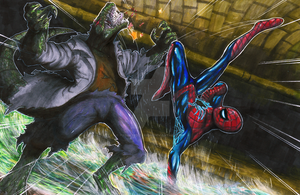 All-New Amazing Spiderman VS The Lizard by matsuyama-takeshi