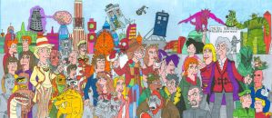 2nd Doctor Who/ Futurama Poster Doctors 3-5 by iamtherealbender