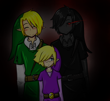 Link, Dark Link, and Vio by Ask-VioLink