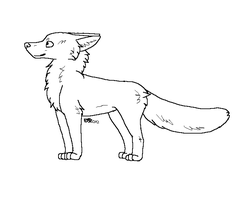 Free Fox adoptable lineart by Daisylasy3