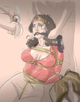 Wonder Woman in peril again by frelncer