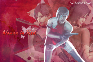 Ada Wong Woman In Red Wallpaper by BriellaLove
