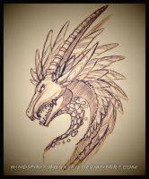.:: Kohaku the Borderbreaker - Sketch ::. by Windspirit-Aquaeris