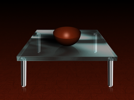 Glass Table by cjmcguinness