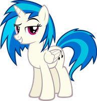 Alicorn Vinyl Scratch! by flamelauncher14