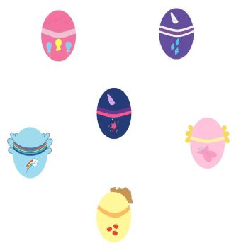 MLP EASTER EGGs by dragonfire238