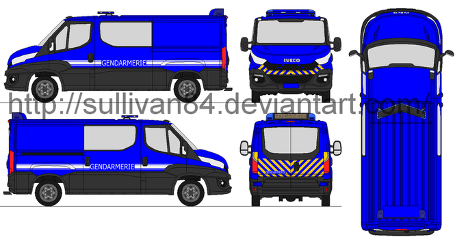 new Iveco daily gendarmerie nationale by sullivan84