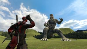 Deadpool vs. Godzilla by Nitro00123