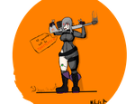 Edgy Assassin Drawing by megamanisthesatin