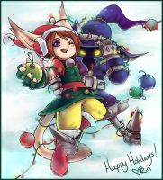 Happy Holidays Rin and Veigar by RinTheYordle
