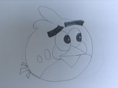 angry birds red bird Drawing by Mcfawcett007